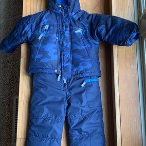 Carters blue camo snowsuit